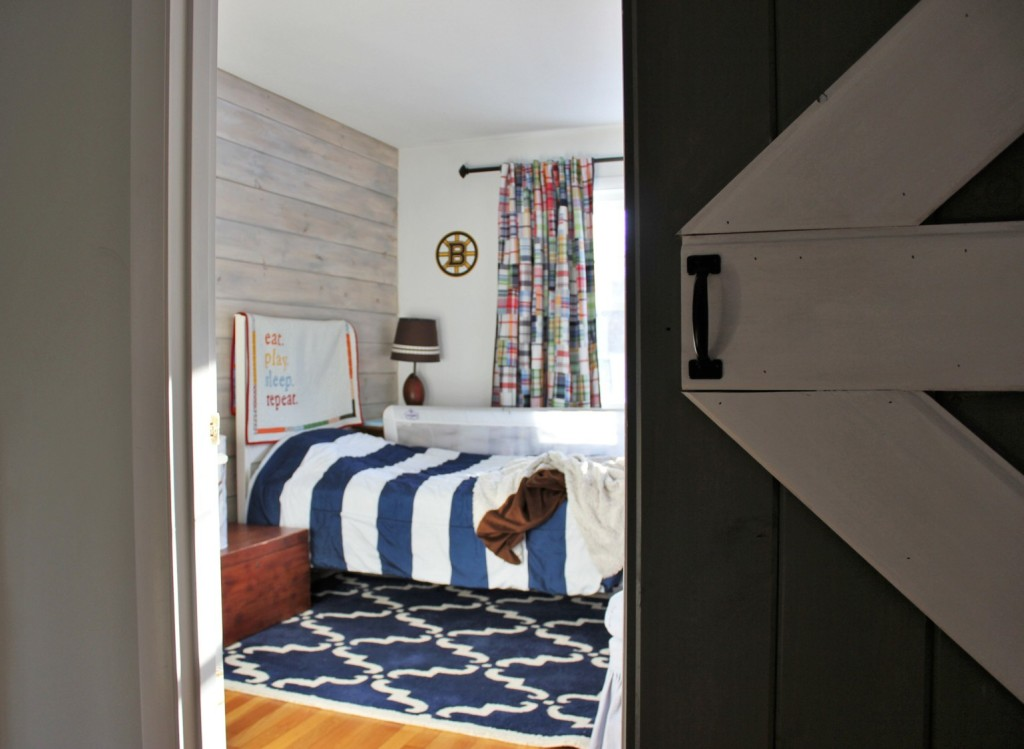 Barn Door And Whitewashed Shiplap In Little Man S Bedroom