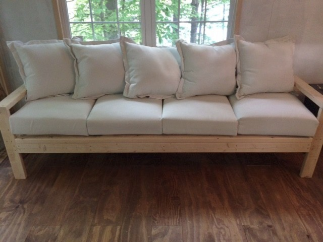 Our Handmade Sofa With Ana White Plans Back To Blueberry Hill